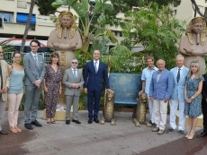 Inauguration des animations estivales sur le Port de Monaco : « L'Or des Pharaons au Port Hercule »