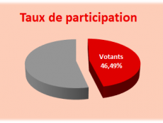 Elections communales 2019 - taux de participation
