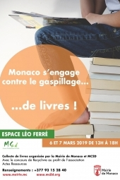 Monaco s'engage contre le gaspillage de livres !