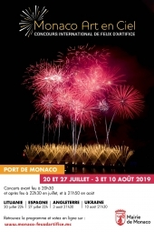 Monaco Art en Ciel 2019 - Concours International de Feux d'Artifice